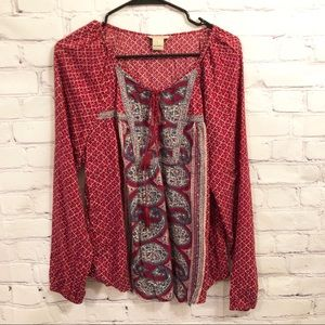 Lucky Brand long sleeved blouse